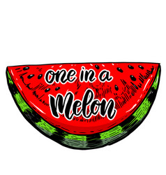 One in a melon vector