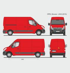 Opel movano cargo delivery van 2015 l2h2 vector
