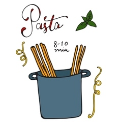 Pasta cooking vector image