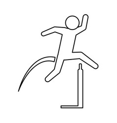 pictogram man practice athletics sport vector image