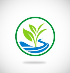 plant seed water ecology logo vector image