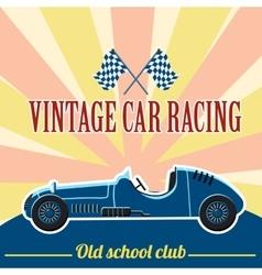 Racing retro car concept flat style vector