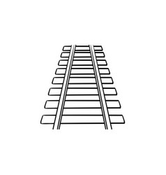 Rails hand drawn outline doodle icon vector