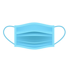 Realistic mouth mask face mask flat icon vector