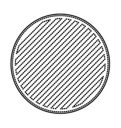 Round emblem in monochrome dotted contour and vector
