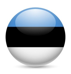 Round glossy icon of estonia vector image