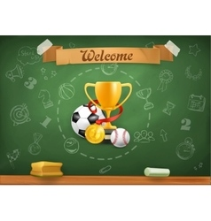 School sports infographics background vector