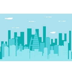 Seamless Silhouette Urban Landscape City Real vector image