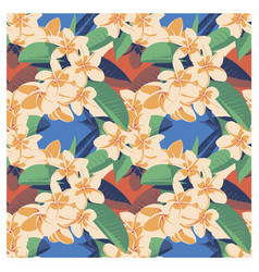 Seamless summer hawaiian tropical pattern with vector
