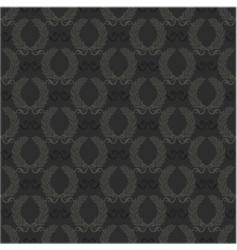 Seamless wreath pattern vector