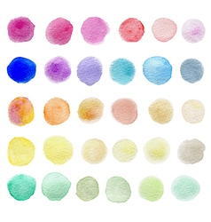 Set of abstract round watercolor blots vector image