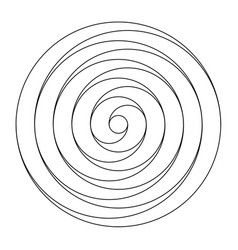 Simple black and white spiral design element vector