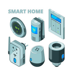 smart house equipment movement sensors electric vector image