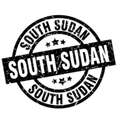 south sudan black round grunge stamp vector image