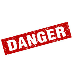square grunge red danger stamp vector image