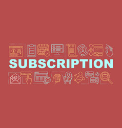Subscription word concepts banner vector