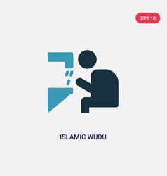 Two color islamic wudu icon from religion-2 vector