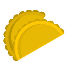 Two empanadas icon isolated vector