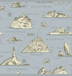 vintage seamless background on the theme of travel vector image