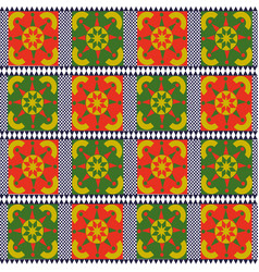 vintage seamless pattern tile of retro floral art vector image