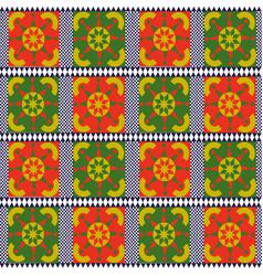Vintage seamless pattern tile of retro floral art vector
