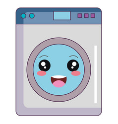 Washer machine kawaii character vector