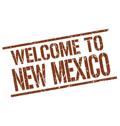 welcome to new mexico stamp vector image