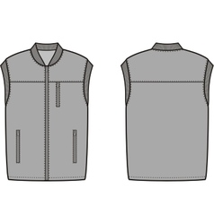 Work winter vest vector image