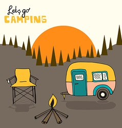 Camping background vector image vector image