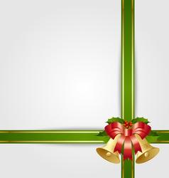 christmas gift ribbon vector image vector image