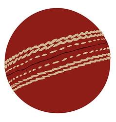 Cricket ball vector image vector image