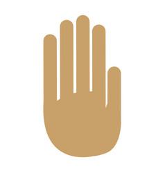 hand palm human symbol design vector image