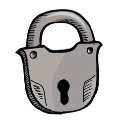 Old lock vector image