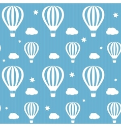 seamless pattern whith white hot air vector image