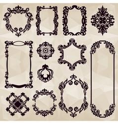 vintage typographic element collecton vector image vector image