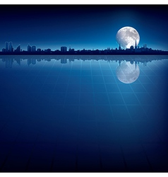 abstract background with silhouette of city and vector image