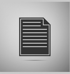 document icon isolated on grey background vector image vector image