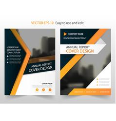 Orange annual report leaflet brochure flyer vector