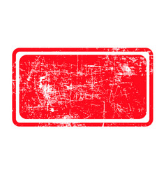 red rectangular grunge stamp with blank siolated vector image vector image
