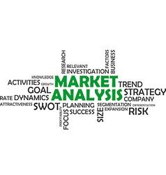 word cloud market analysis vector image vector image