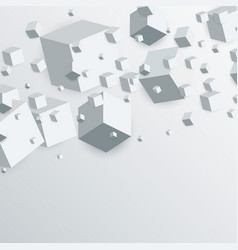 3d floating cubes boxes abstract background vector