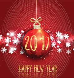 happy new year bauble background 3110 vector image vector image