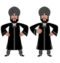 Indian maharajah set angry aggressive and good vector