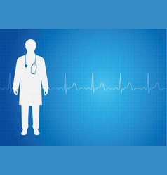 medical background with doctor vector image
