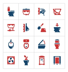 Set color icons of toilet vector image