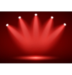 Spotlight on stage for your design Colorful light vector image vector image