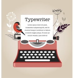 Vintage typewriter vector