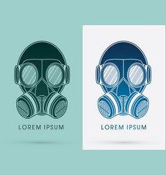 Army gas mask vector
