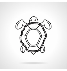 Black line icon for turtle vector image vector image