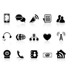 Black Social Media icons set vector image vector image